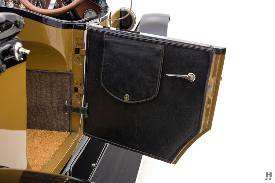 rear door of antique 1921 stutz series touring vehicle for sale at hyman cars
