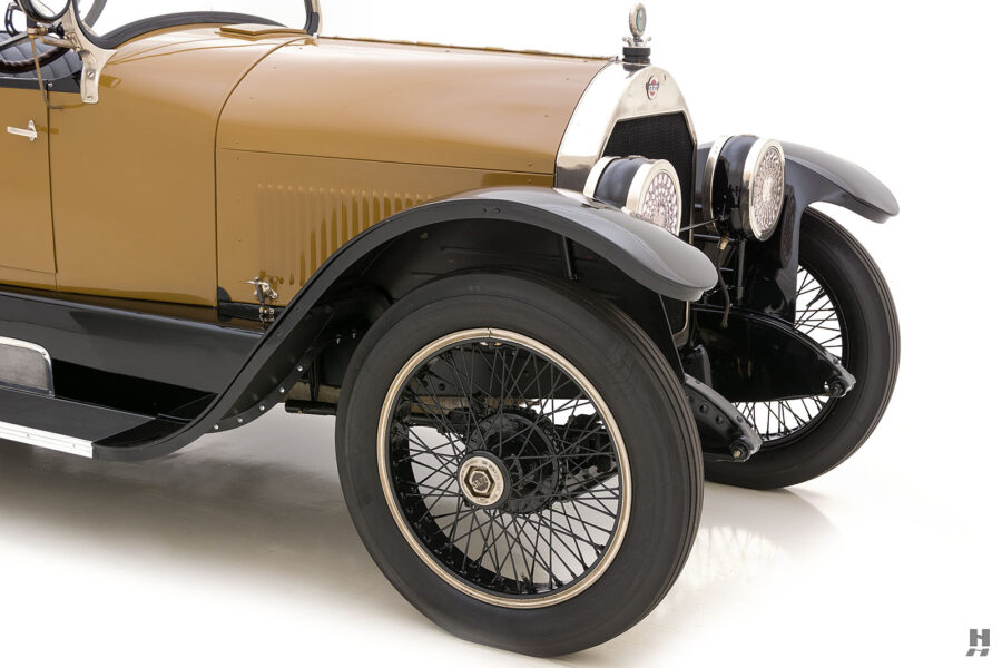 angled frontside of antique 1921 stutz series touring vehicle for sale at hyman cars