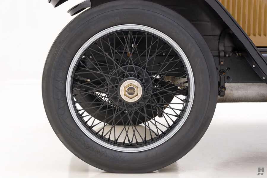 back tire of antique 1921 stutz series touring vehicle for sale at hyman cars