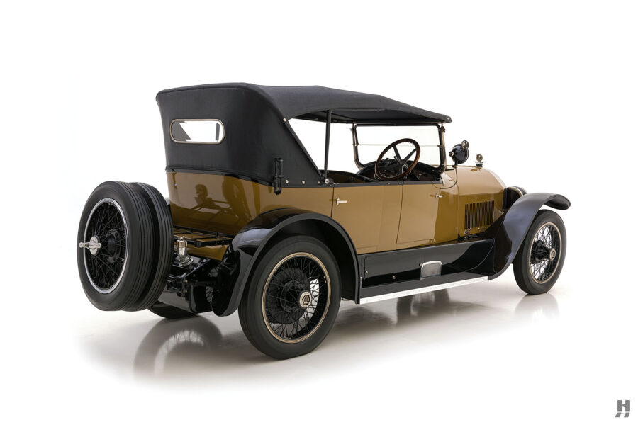 angled back view of antique 1921 stutz series touring vehicle for sale at hyman cars