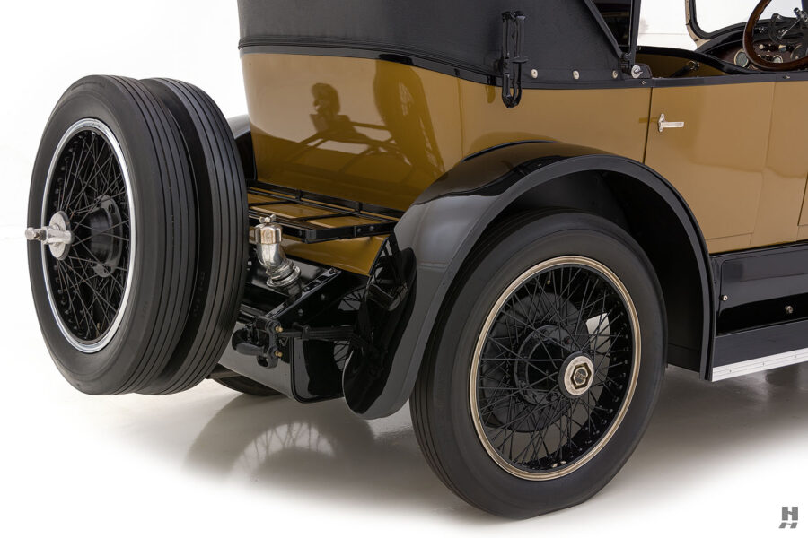 angled backside of antique 1921 stutz series touring vehicle for sale at hyman cars