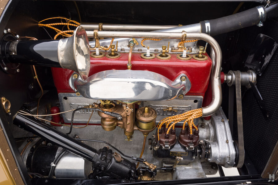 engine of antique 1921 stutz series touring vehicle for sale at hyman cars