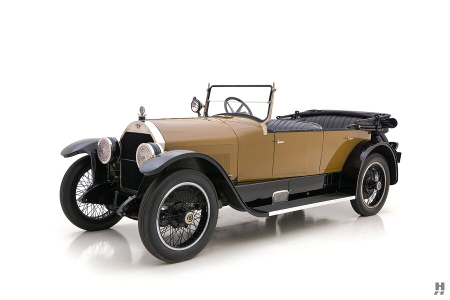 angled front of antique 1921 stutz series touring vehicle for sale at hyman cars
