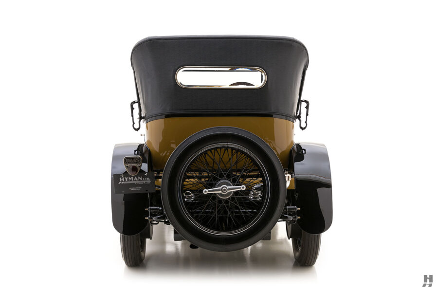 backside of antique 1921 stutz series touring vehicle for sale at hyman cars