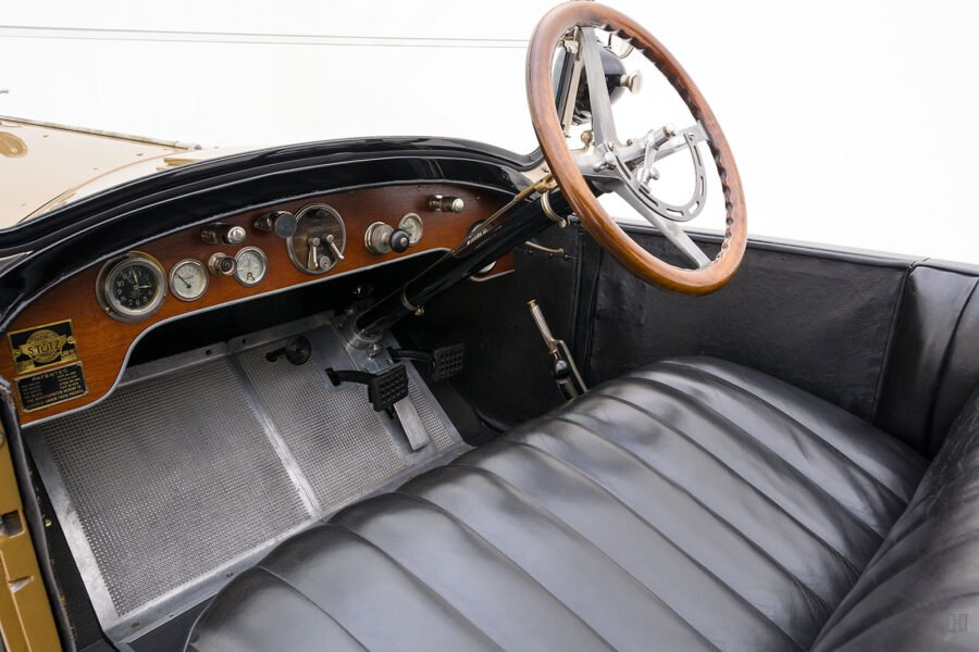front interior of antique 1921 stutz series touring vehicle for sale at hyman cars