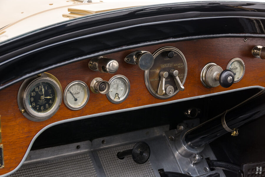 dashboard of antique 1921 stutz series touring vehicle for sale at hyman cars