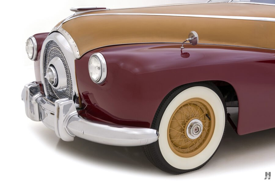 angled front of antique 1932 duesenberg speedster for sale at hyman classic car dealers