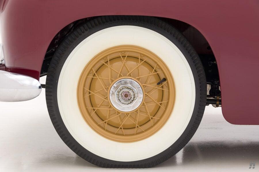 back tire of antique 1932 duesenberg speedster for sale at hyman classic car dealers