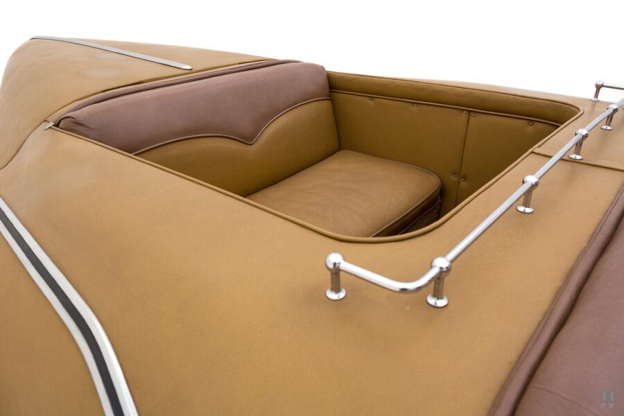backseats of antique 1932 duesenberg speedster for sale at hyman classic car dealers