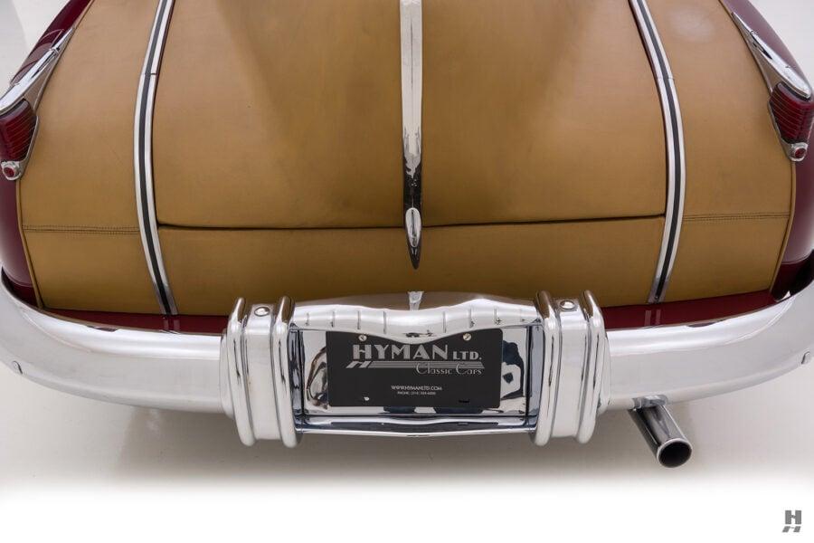 backside of antique 1932 duesenberg speedster for sale at hyman consignment dealers