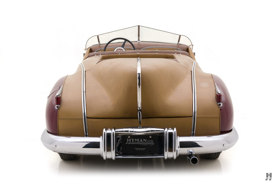 back of antique 1932 duesenberg speedster for sale at hyman classic cars