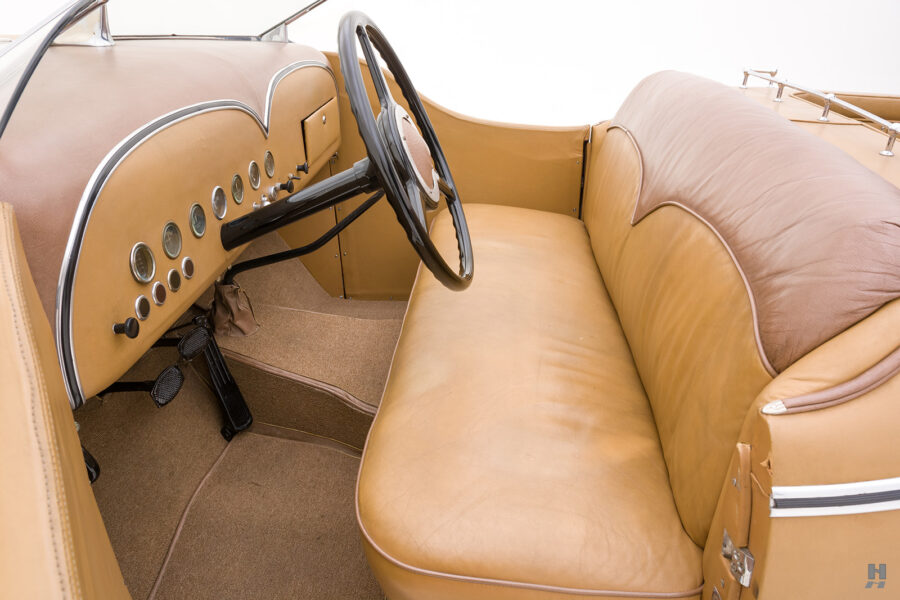 front interior side view of antique 1932 duesenberg speedster for sale at hyman classic car dealers