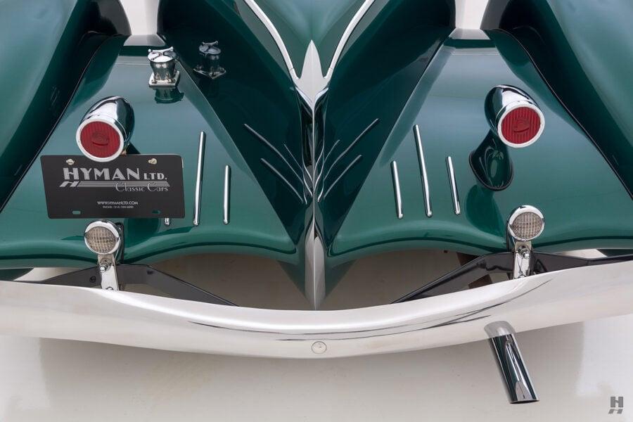 back of vintage duesenberg speedster for sale at hyman classic cars