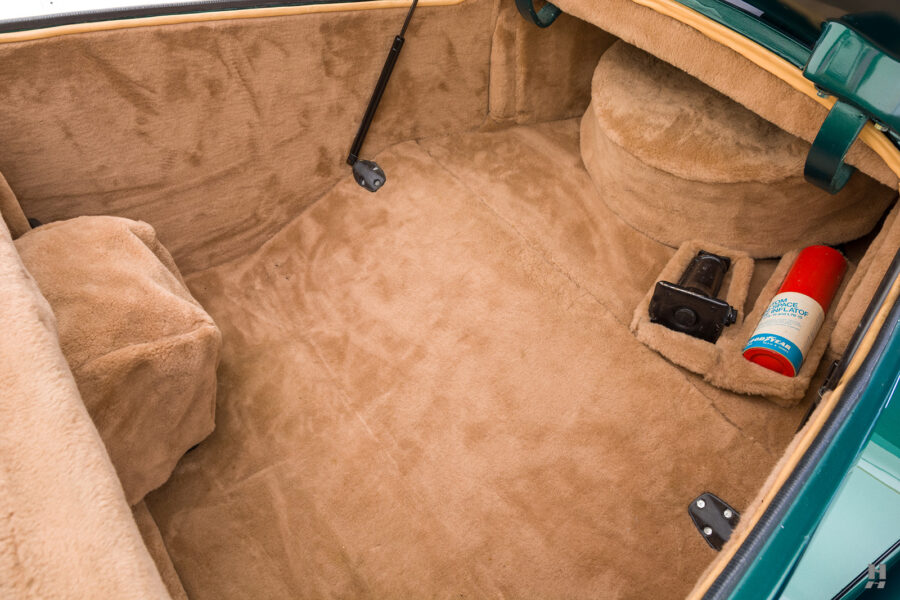 trunk of vintage duesenberg speedster for sale at hyman classic cars
