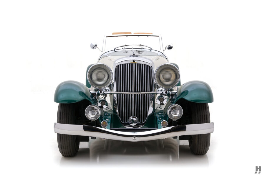 front of vintage duesenberg speedster for sale at hyman classic cars