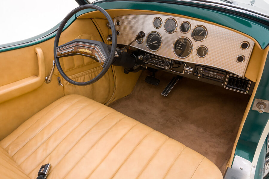 front interior of vintage duesenberg speedster for sale at hyman classic cars