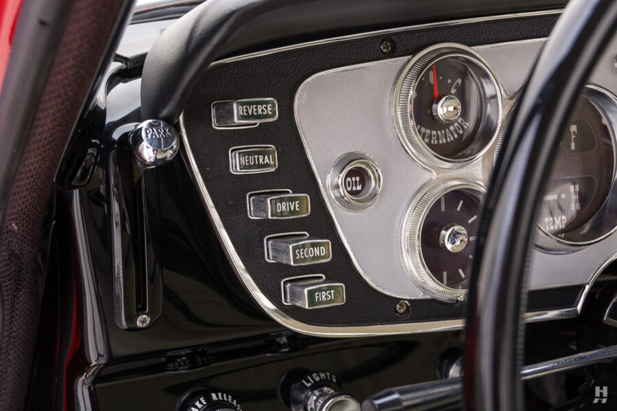 buttons next to steering wheel on vintage 1963 plymouth savoy for sale at hyman classic cars