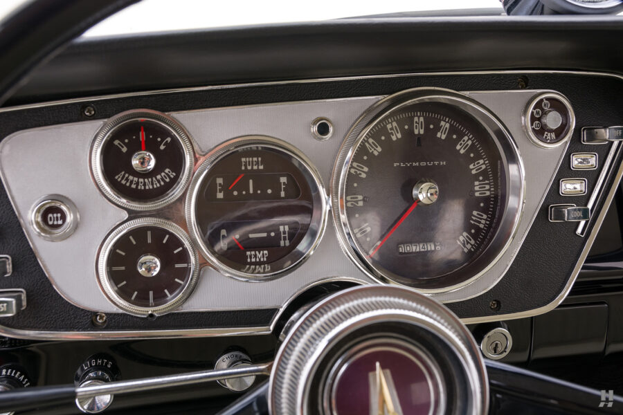 speedometers on vintage 1963 plymouth savoy for sale at hyman classic cars