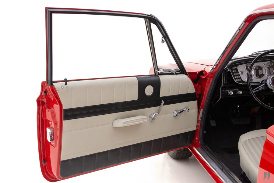 driver's side door of vintage 1963 plymouth savoy for sale at hyman classic cars
