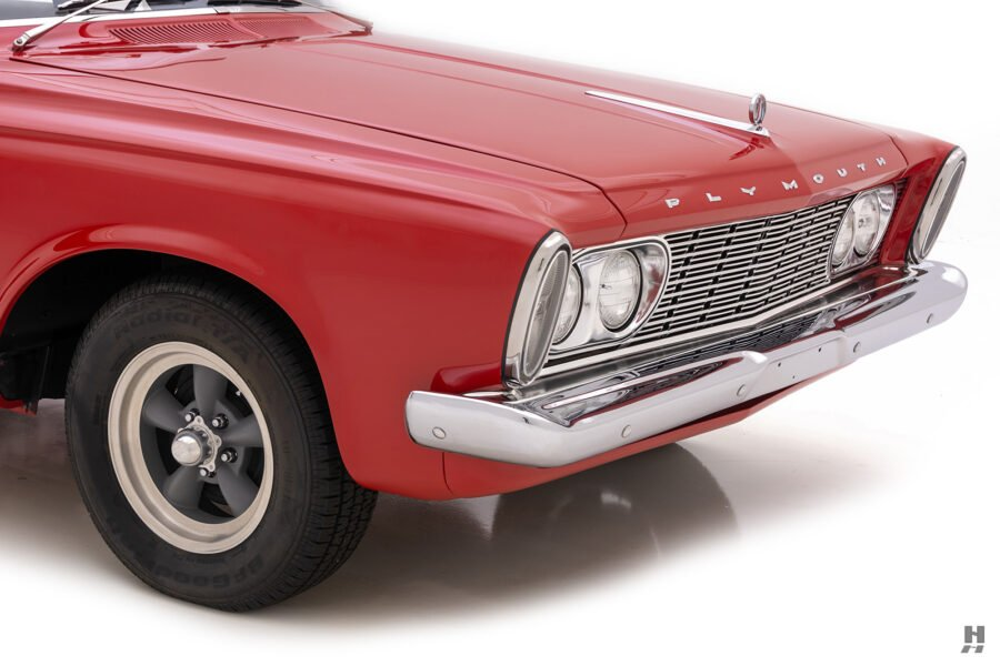 angled front of vintage 1963 plymouth savoy for sale at hyman classic cars