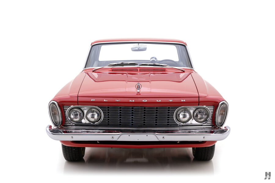 frontside of vintage 1963 plymouth savoy for sale at hyman classic cars