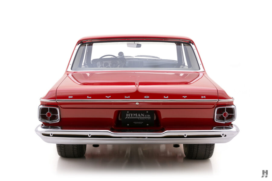backside of vintage 1963 plymouth savoy for sale at hyman classic cars