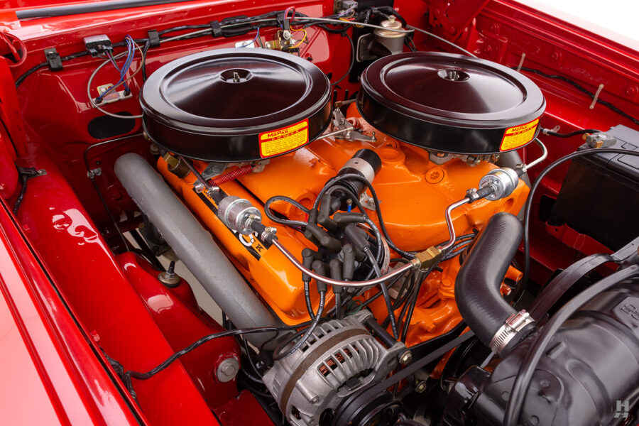 engine of vintage 1963 plymouth savoy for sale at hyman classic cars