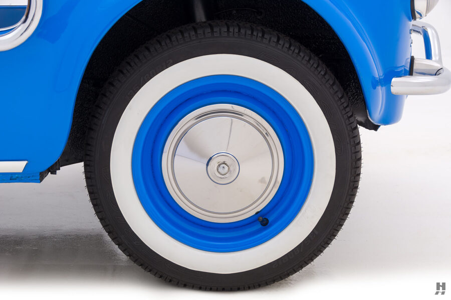 back tire of 1959 fiat 500 jolly for sale at hyman consignment dealers