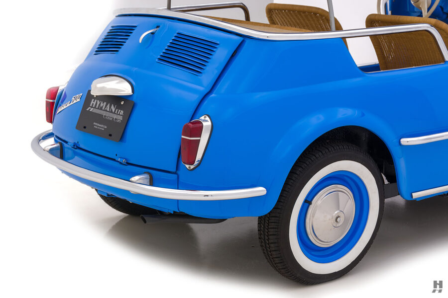 angled back of 1959 fiat 500 jolly for sale at hyman consignment dealers