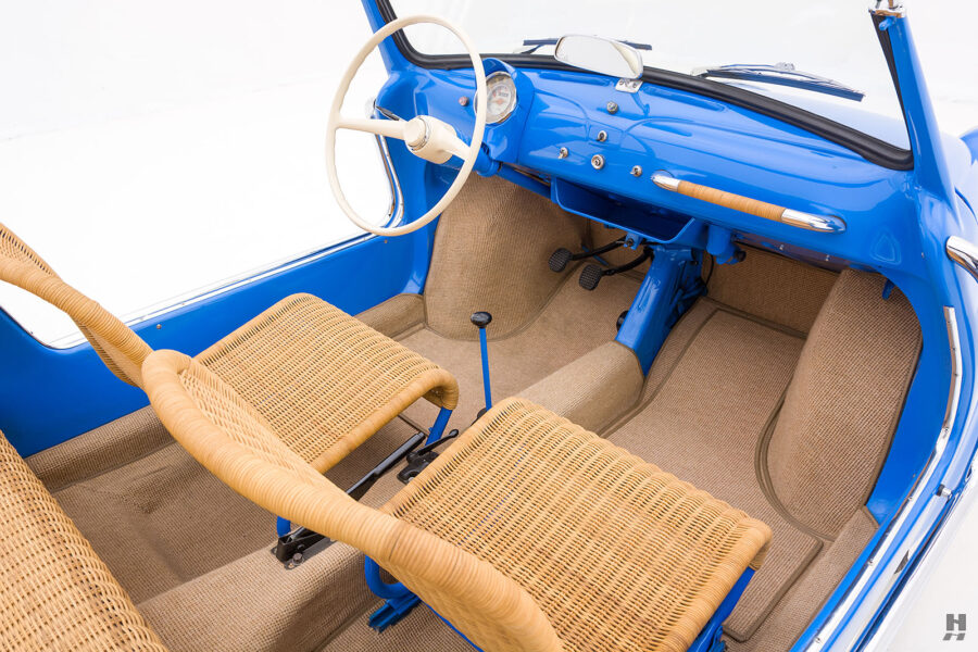 interior of 1959 fiat 500 jolly for sale at hyman consignment dealers