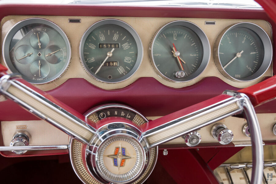 speedometers on vintage 1956 lincoln continental car for sale at hyman dealers