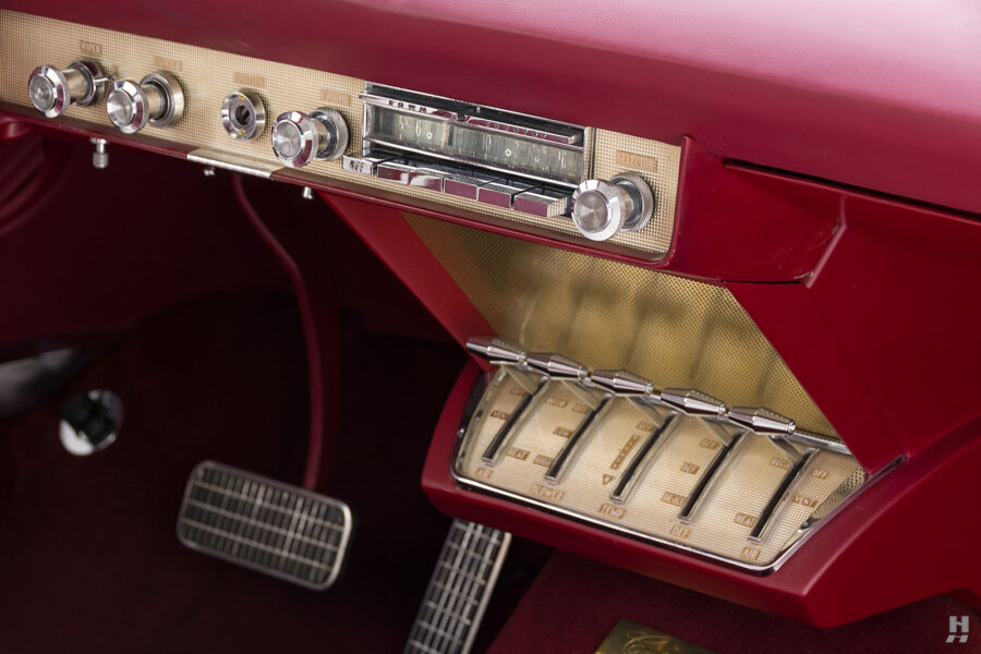 dashboard on vintage 1956 lincoln continental car for sale at hyman dealers