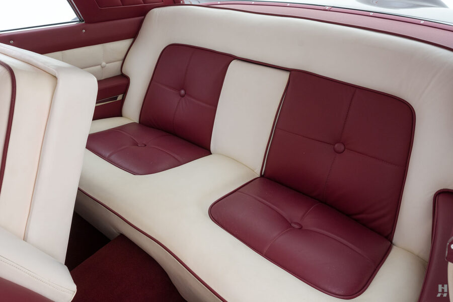 back seats of vintage 1956 lincoln continental car for sale at hyman dealers