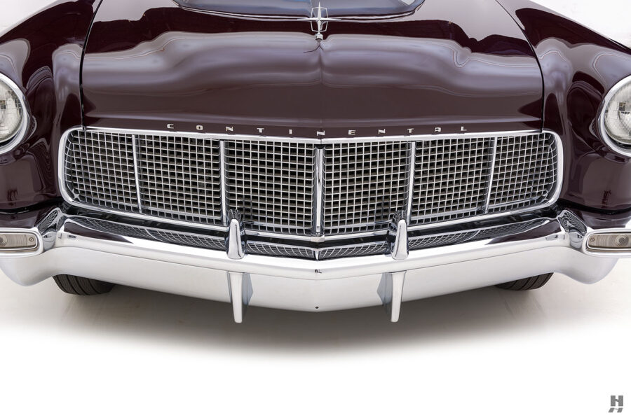 frontside of vintage 1956 lincoln continental car for sale at hyman dealers