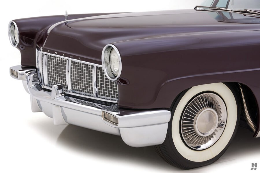 angled front of vintage 1956 lincoln continental car for sale at hyman dealers