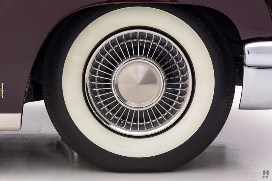 back tire on vintage 1956 lincoln continental car for sale at hyman dealers