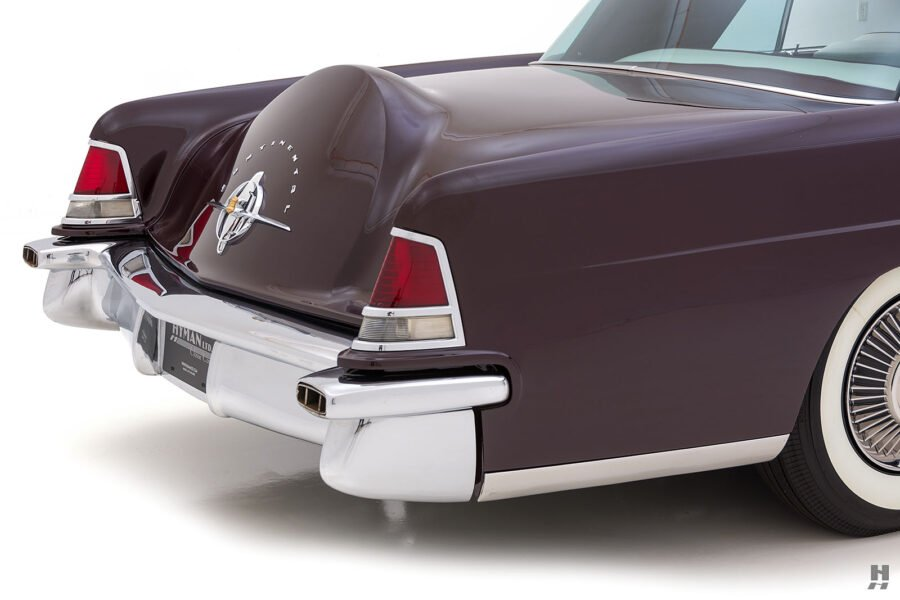 angled back of vintage 1956 lincoln continental car for sale at hyman dealers
