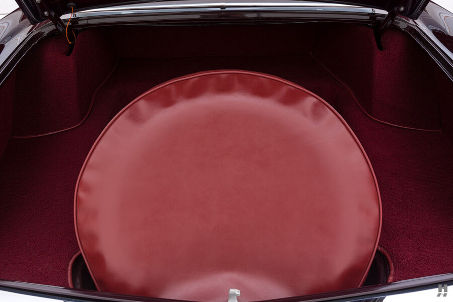 spare tire on vintage 1956 lincoln continental car for sale at hyman dealers