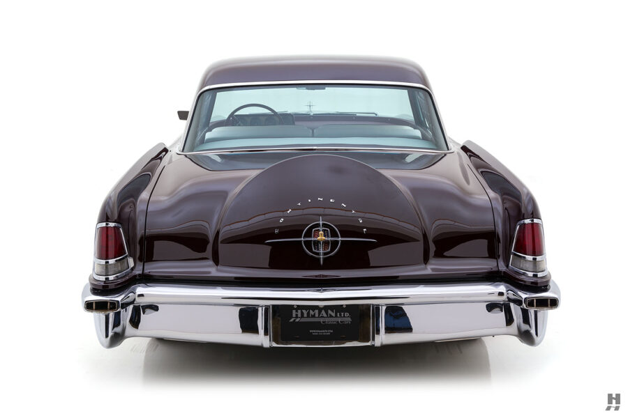 back of vintage 1956 lincoln continental car for sale at hyman dealers