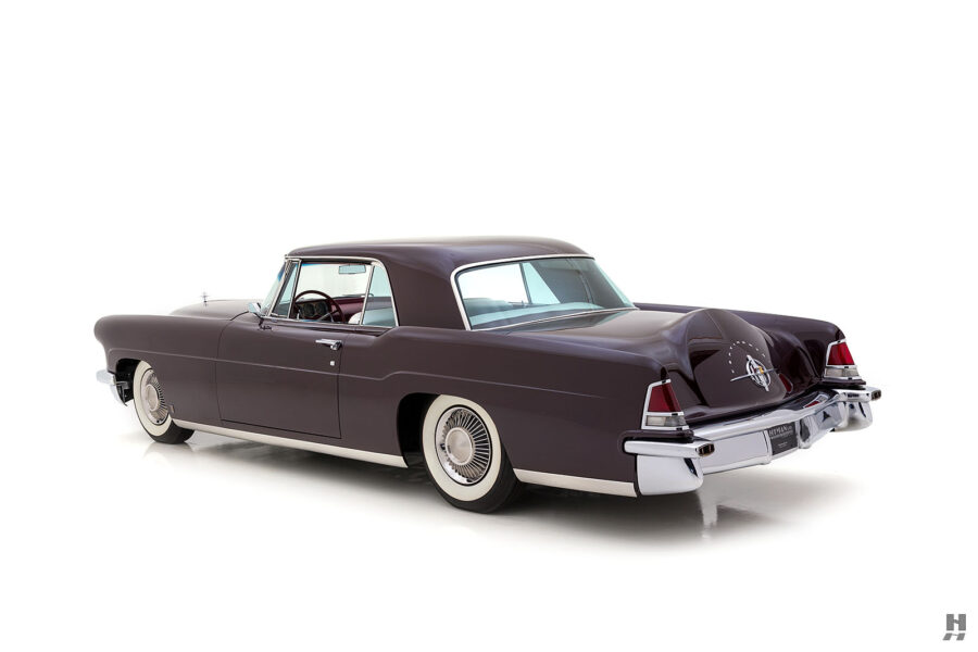 angled backside of vintage 1956 lincoln continental car for sale at hyman dealers