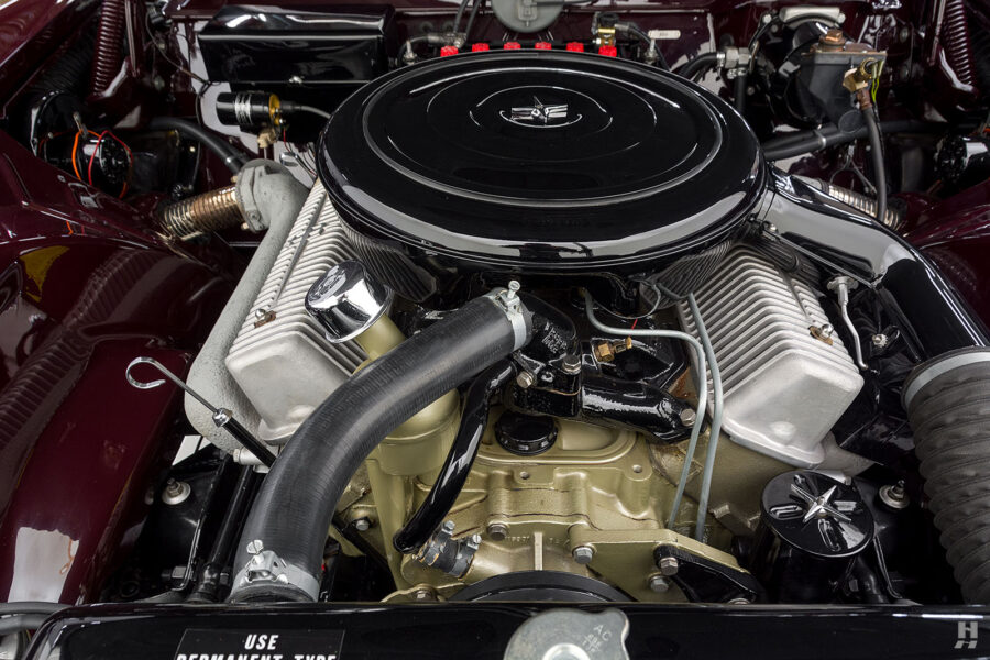 engine of vintage 1956 lincoln continental car for sale at hyman dealers
