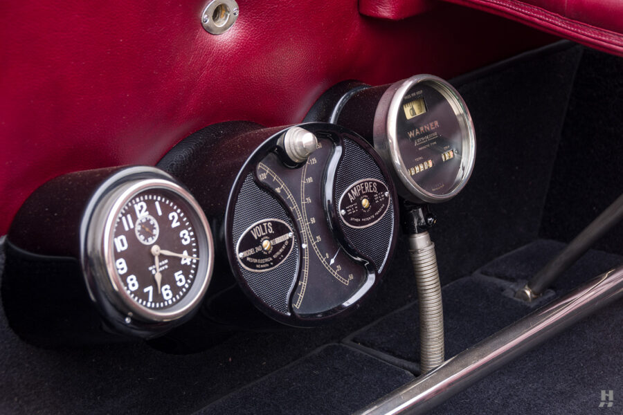 speedometers of antique detroit electric roadster for sale at hyman classic cars
