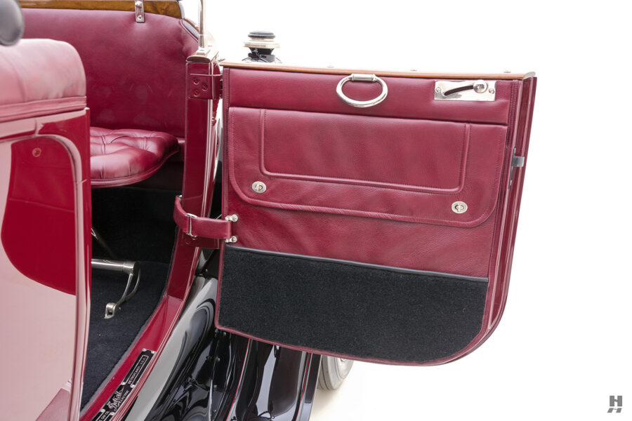 passenger's side door of antique detroit electric roadster for sale at hyman classic cars
