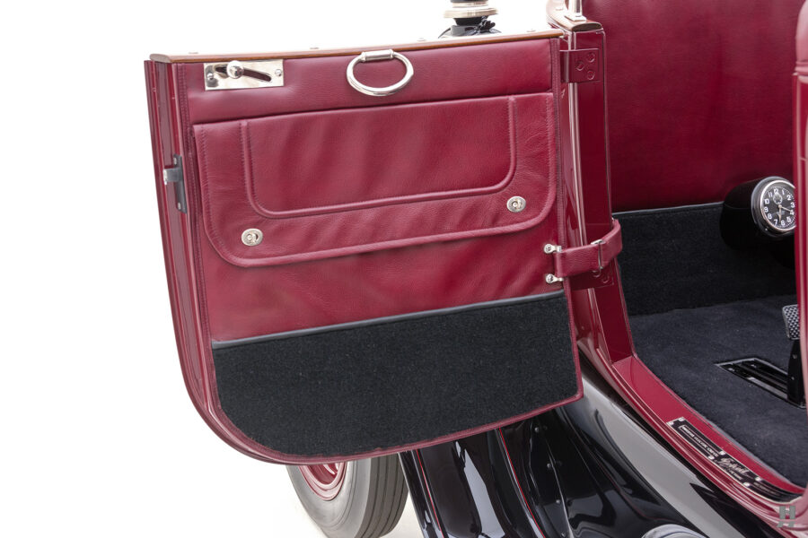 driver's side door of antique detroit electric roadster for sale at hyman classic cars