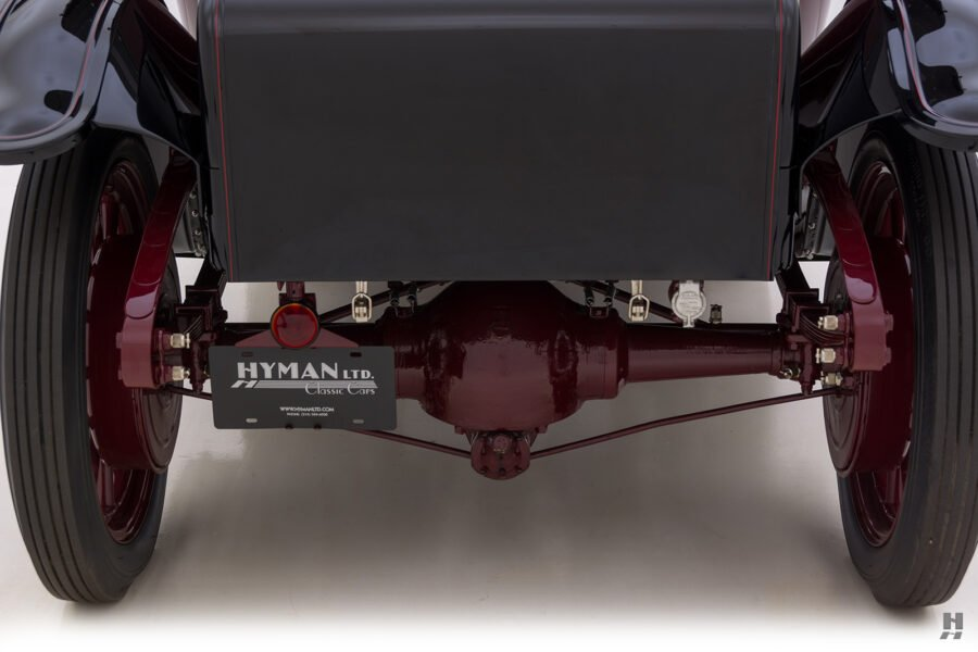 backside of antique detroit electric roadster for sale at hyman classic cars