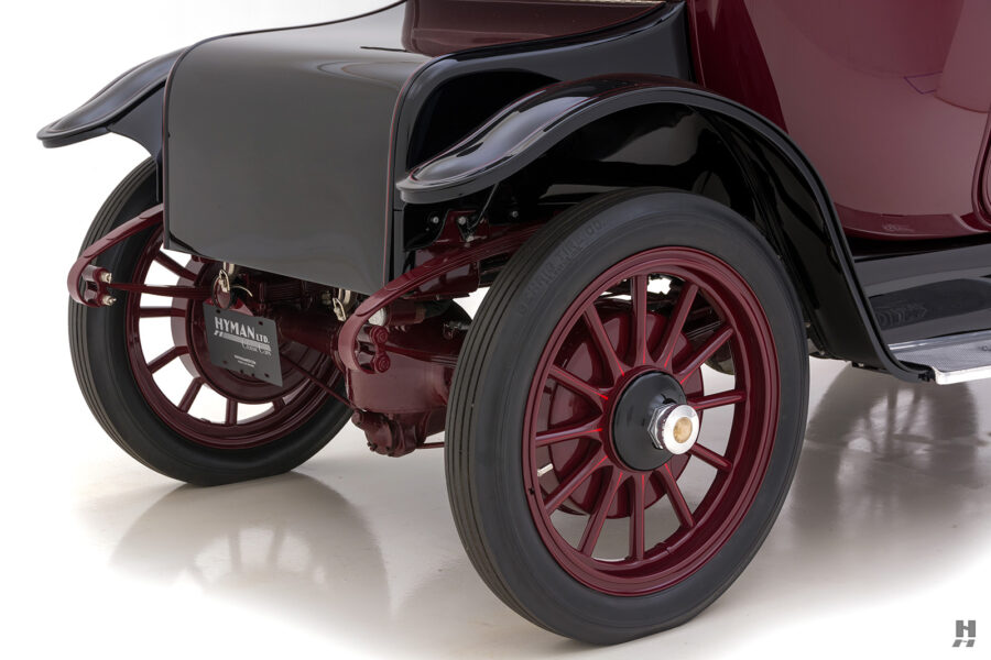 back tires of antique detroit electric roadster for sale at hyman classic cars