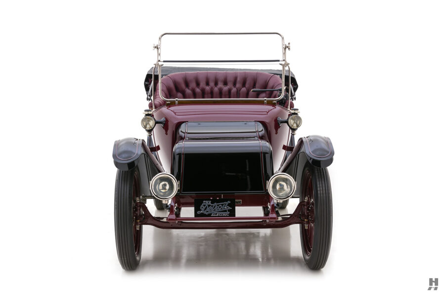 front of antique detroit electric roadster for sale at hyman classic cars