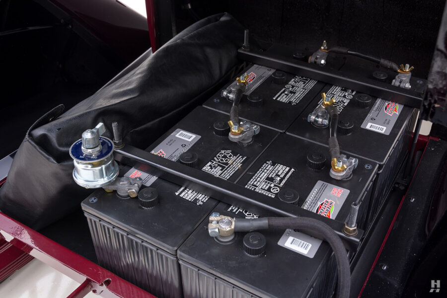 batteries of antique detroit electric roadster for sale at hyman classic cars