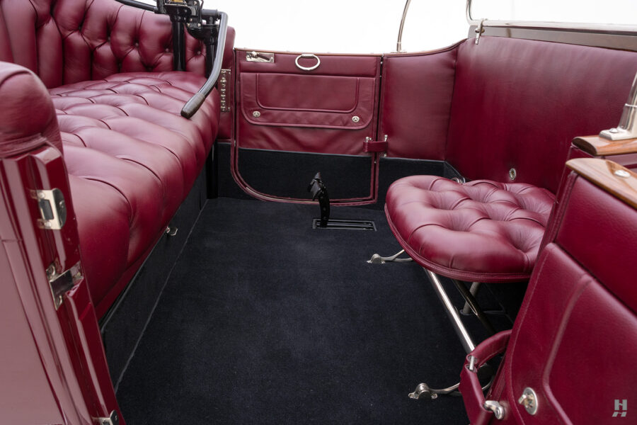 interior of antique detroit electric roadster for sale at hyman classic cars