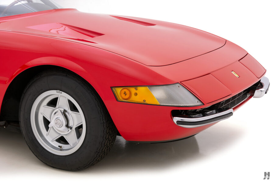 side view of historic ferrari for sale at hyman classic cars